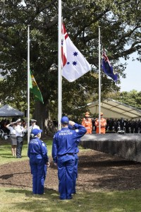 Marine Rescue members attend the Volunteer Memorial ceremony on saturday 10-10-15members from Middle Harbour, Port Jackson, lake Macquarie, terry Hills,Illawarra and the central coast attended.As well as two directors.Pic Brian Roberts