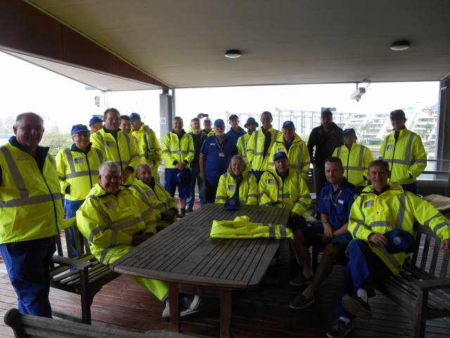 Members from Middle Harbour pose for a group photo at NSW Police Marine Area Command
