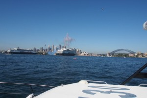 P&O 5 Ship Spectacular on Sydney Harbour