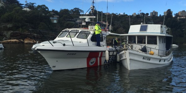 MH30 Rescues Sinking Cruiser